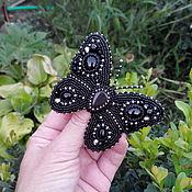 Украшения ручной работы. Ярмарка Мастеров - ручная работа Брошь Ночная бабочка. Handmade.