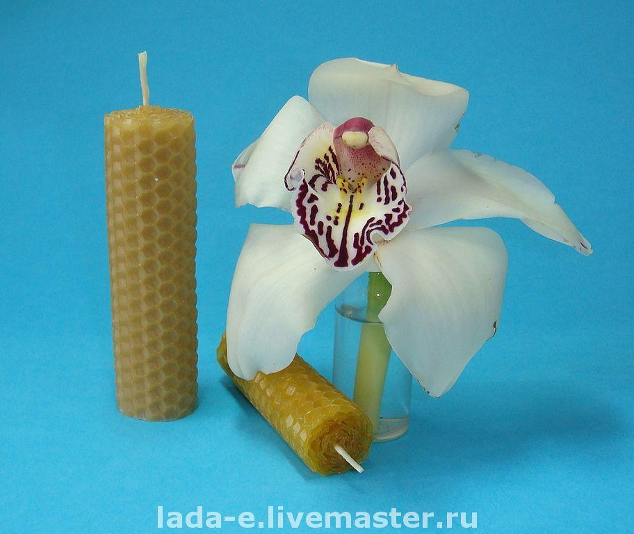 Восковая свеча ручной работы, Свечи, Москва,  Фото №1
