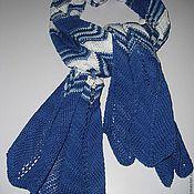 Аксессуары ручной работы. Ярмарка Мастеров - ручная работа шарф СИНЕЕ МОРЕ. Handmade.