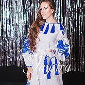 Одежда ручной работы. Ярмарка Мастеров - ручная работа Платье  женское вышитое, лен, бохо стиль , Bohemian,. Handmade.