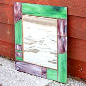 Для дома и интерьера handmade. Livemaster - original item Mirror in stained frame. Stained Glass Tiffany. Handmade.
