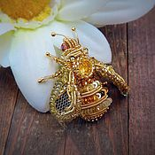 Украшения ручной работы. Ярмарка Мастеров - ручная работа Золотая пчелка. Handmade.