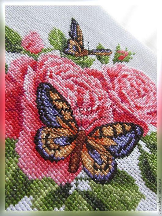 Картины цветов ручной работы. Ярмарка Мастеров - ручная работа. Купить Аромат лета. Handmade. Розовый, фиолетовый, бабочка