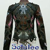 Одежда handmade. Livemaster - original item Women`s jacket from crocodile Python lambskin.. Handmade.
