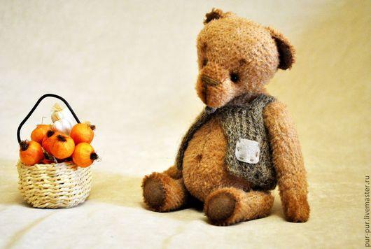 Мишки Тедди ручной работы. Ярмарка Мастеров - ручная работа. Купить Еня (старенький мишка) (нашел дом). Handmade. Желтый