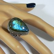 Украшения handmade. Livemaster - original item Ring with natural Labradorite (MO2).. Handmade.