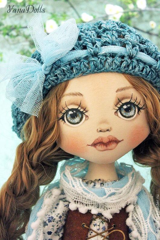 Коллекционные куклы ручной работы. Ярмарка Мастеров - ручная работа. Купить Диана. Handmade. Бирюзовый, кукла текстильная, трикотаж, батист