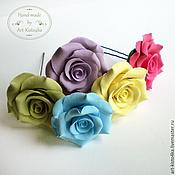 Работы для детей, ручной работы. Ярмарка Мастеров - ручная работа Набор шпилек с розами. Handmade.
