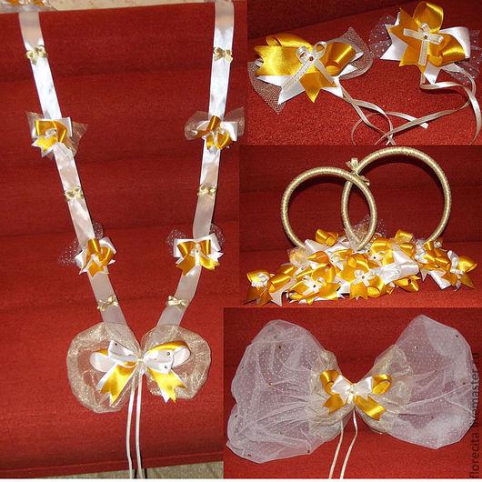 Свадебные украшения ручной работы. Ярмарка Мастеров - ручная работа. Купить бело золотая свадьба. Handmade. Свадебные аксессуары, кольца