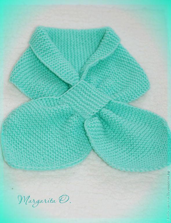 Вязание шарф с петлей 105