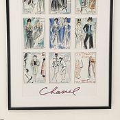 Картины и панно ручной работы. Ярмарка Мастеров - ручная работа Картина эскизы Karl Lagerfeld. Handmade.
