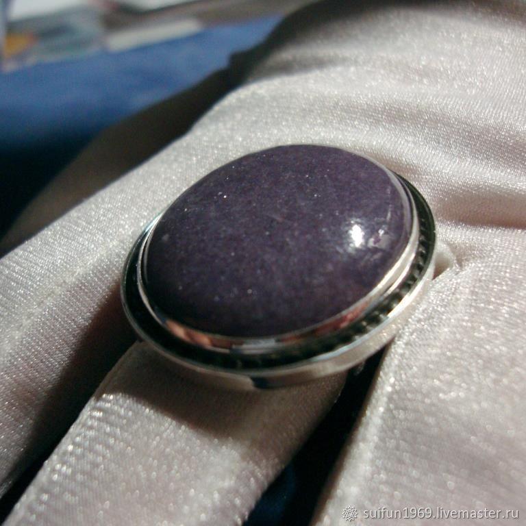 Кольца ручной работы. Ярмарка Мастеров - ручная работа. Купить Серебряное кольцо с лепидолитом. Handmade. Подарок, самоцветы, лепидолит натуральный