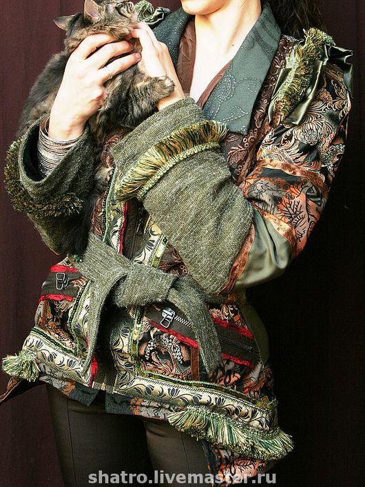 Верхняя одежда ручной работы. Ярмарка Мастеров - ручная работа. Купить куртка ЭТНО. Handmade. Куртка, плащ, эко-стиль