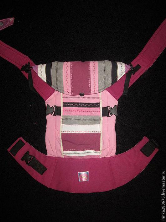 """Слинги ручной работы. Ярмарка Мастеров - ручная работа. Купить Эргономичный рюкзак """"Этно"""" для девочки. Handmade. Фуксия"""