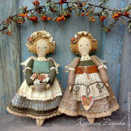 Ароматизированные куклы ручной работы. Ярмарка Мастеров - ручная работа. Купить Подружки из Кэндлфорда. Handmade. Коричневый, куклы для интерьера, пряжа