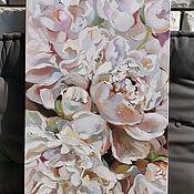 Картины и панно handmade. Livemaster - original item Oil painting with peonies. Handmade.