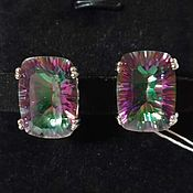 Украшения handmade. Livemaster - original item Silver earrings with quartz 18h13 mm. Handmade.