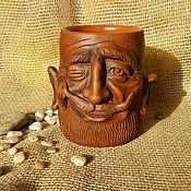 Mugs handmade. Livemaster - original item Ceramic mug Grandfather. Handmade.
