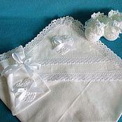 Работы для детей, handmade. Livemaster - original item Lace christening diaper kryzhma. Handmade.