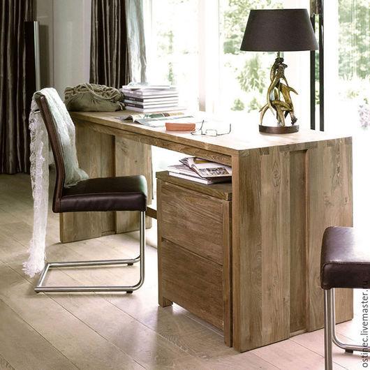 Мебель ручной работы. Ярмарка Мастеров - ручная работа. Купить дубовый стол письменный Лия + скидка. Handmade. Коричневый