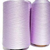 Материалы для творчества handmade. Livemaster - original item Yarn silk. 100% silk. The color of pale lilac.. Handmade.