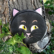 Сумки и аксессуары handmade. Livemaster - original item Textile bag kitty. Handmade.