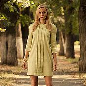 Одежда ручной работы. Ярмарка Мастеров - ручная работа Нежно-оливковое платье. Handmade.