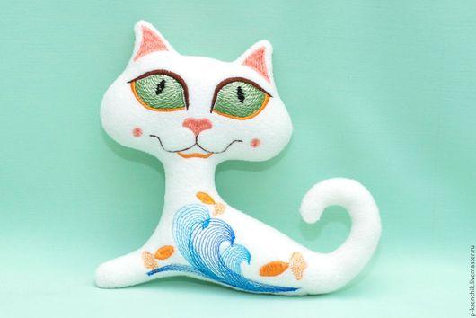 Игрушки животные, ручной работы. Ярмарка Мастеров - ручная работа. Купить Кот Игривый. Handmade. Кот, кот игрушка, красный