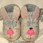 """Обувь ручной работы. Ярмарка Мастеров - ручная работа Пинетки """"Зайки"""". Handmade."""