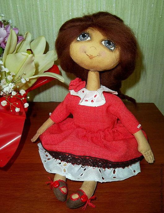 Коллекционные куклы ручной работы. Ярмарка Мастеров - ручная работа. Купить Малышка. Handmade. Коралловый, кукла ручной работы