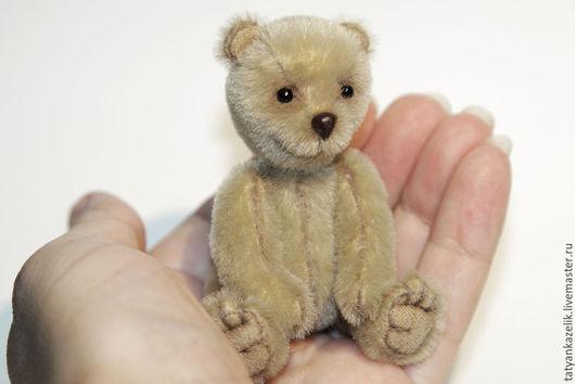 Мишки Тедди ручной работы. Ярмарка Мастеров - ручная работа. Купить Мишка тедди Крошик. Handmade. Бежевый, миниатюра, микро