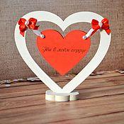 Подарки к праздникам ручной работы. Ярмарка Мастеров - ручная работа Деревянная композиция Ты в моём сердце. Handmade.