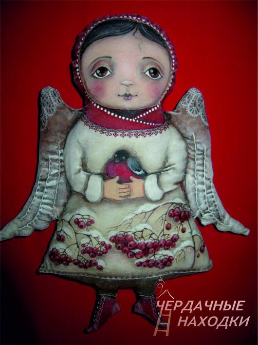 Коллекционные куклы ручной работы. Ярмарка Мастеров - ручная работа. Купить Зимний ангел.. Handmade. Белый, интерьерная игрушка