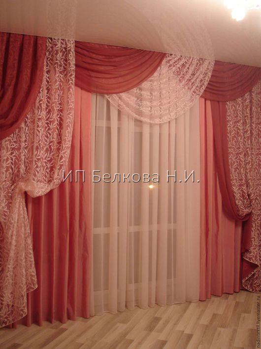 Текстиль, ковры ручной работы. Ярмарка Мастеров - ручная работа. Купить Портьера ЭДИТ. Handmade. Розовый, перламутровый, нежно-розовый