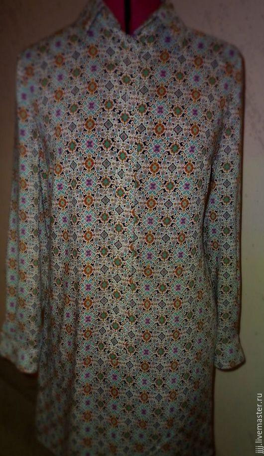 Платья ручной работы. Ярмарка Мастеров - ручная работа. Купить Платье - рубашка. Handmade. Платье, штапель вискозный