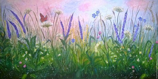 Картины цветов ручной работы. Ярмарка Мастеров - ручная работа. Купить В травах. Handmade. Комбинированный, написана с любовью