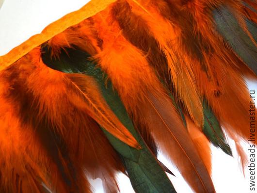 Другие виды рукоделия ручной работы. Ярмарка Мастеров - ручная работа. Купить Перья петуха, оранж. Handmade. Перья