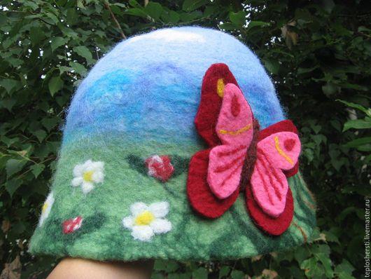 """Банные принадлежности ручной работы. Ярмарка Мастеров - ручная работа. Купить Банная шляпа """"Лето"""". Handmade. Банная шляпка"""