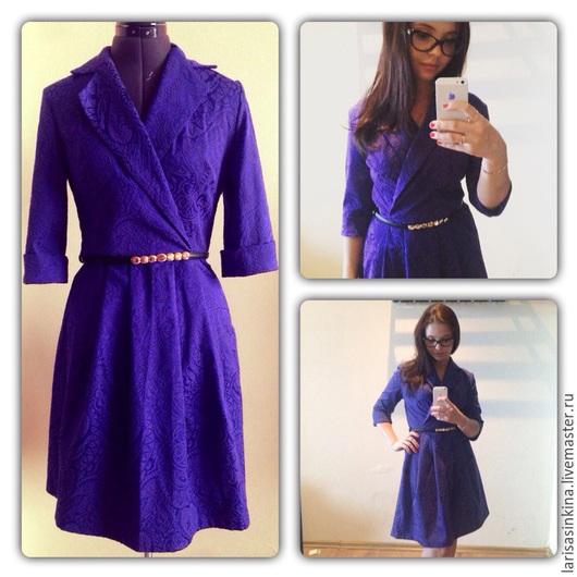 Платья ручной работы. Ярмарка Мастеров - ручная работа. Купить Фиолетовая классика (П061). Handmade. Тёмно-фиолетовый, классическое платье