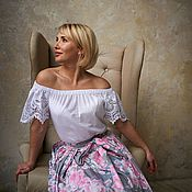 Одежда handmade. Livemaster - original item Blouse made of lace sewing