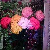 Цветы и флористика handmade. Livemaster - original item Crochet roses crochet. Handmade.