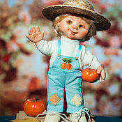 Куклы и пупсы ручной работы. Ярмарка Мастеров - ручная работа Эмиль с тыквами. Handmade.