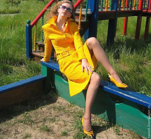 """Костюмы ручной работы. Ярмарка Мастеров - ручная работа. Купить Костюм """"Лучик солнца"""" желтый вельвет. Handmade. Желтый"""