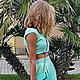 Платья ручной работы. Комплект юбка с топом летние. Natalia Pavlova. Интернет-магазин Ярмарка Мастеров. Мятный цвет