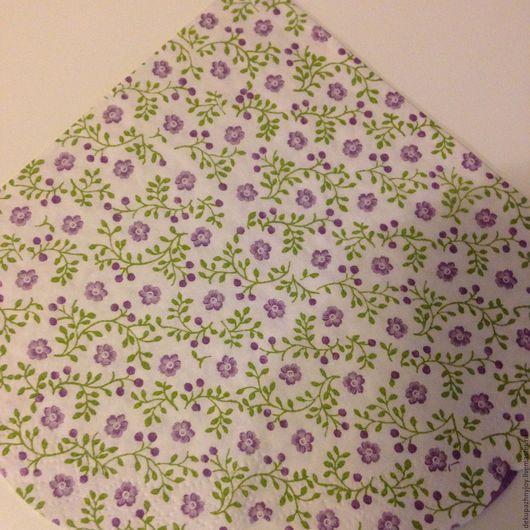 Сиреневые незабудочки - салфетка для декупажа, фоновая цветочная Декупажная радость