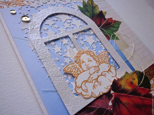 """Открытки для женщин, ручной работы. Ярмарка Мастеров - ручная работа. Купить Открытка """"Осенний ангел"""". Handmade. Открытка ручной работы"""