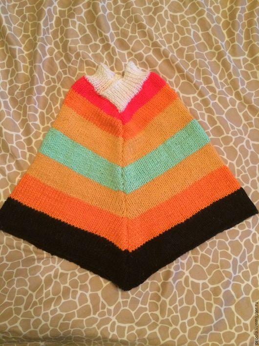 Одежда унисекс ручной работы. Ярмарка Мастеров - ручная работа. Купить Детское вязаное пончо и гетры. Handmade. Комбинированный, пончо