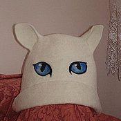 """Для дома и интерьера ручной работы. Ярмарка Мастеров - ручная работа Шапка для бани """"Кошка белая"""". Handmade."""