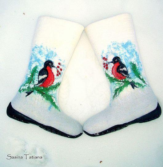 """Обувь ручной работы. Ярмарка Мастеров - ручная работа. Купить Валенки """"Новогодние"""". Handmade. Валенки"""