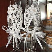Свадебный салон ручной работы. Ярмарка Мастеров - ручная работа Бокалы снежные. Handmade.